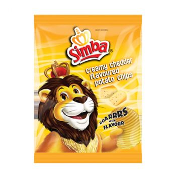 Chips Simba Creamy Cheddar, 125 G