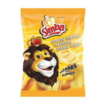 Chips Simba Creamy Cheddar, 36 G