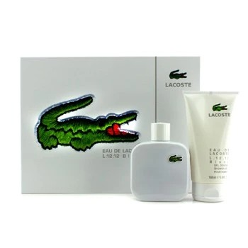 LACOSTE WHITE SET (100ML EDT + 150ML SHOWER G