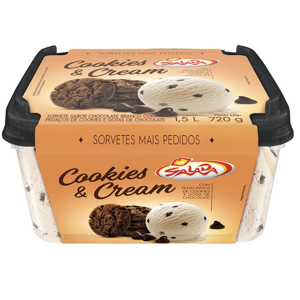 Gelado Cookies Cream Tigela 1.5 L